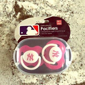 New York Yankees Pacifier Binky NYY